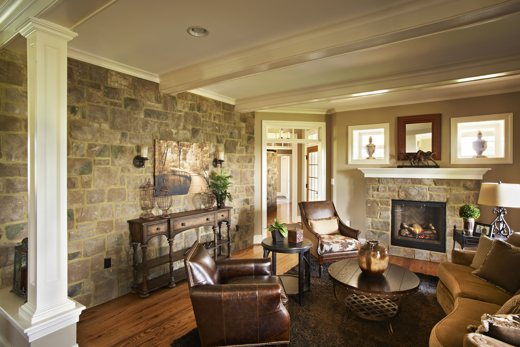 Home Interior Accents Rock Your Home With Stone Interior Accents