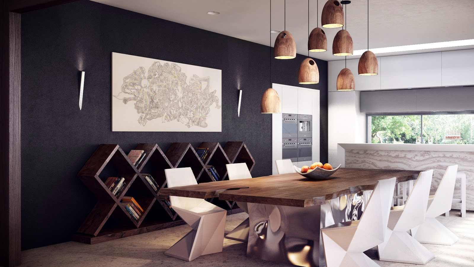 modern dining table set modern kitchen table standout furniture creates sleek lines in this modern dining area