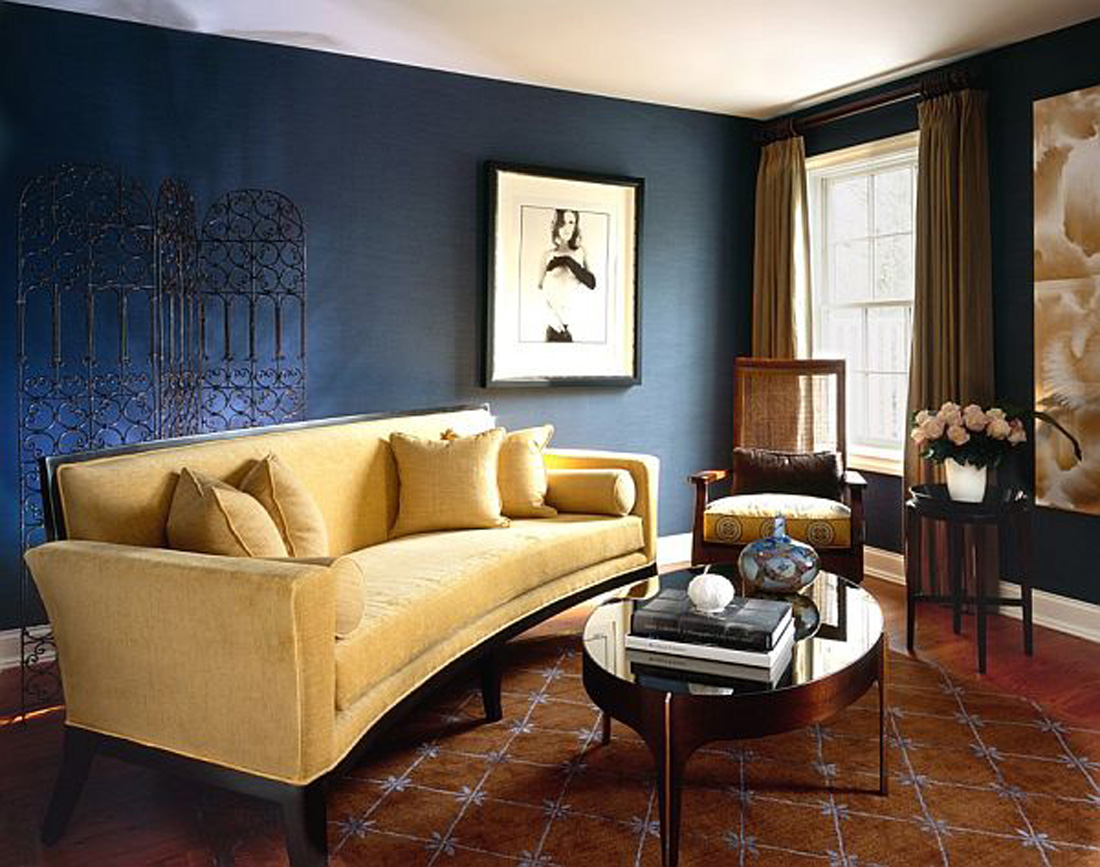 Blue And Yellow Living Room Decor Brown And Blue Interior Color Schemes For An Earthy And