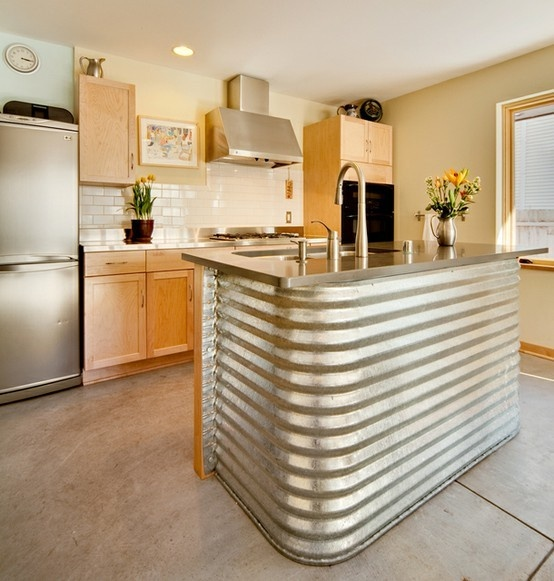 Corrugated Metal Kitchen Island Corrugated Metal In The Home
