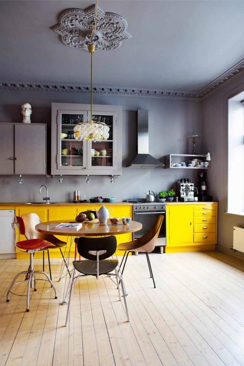 Yellow Kitchen Design Ideas Modern Gray And Yellow Kitchen
