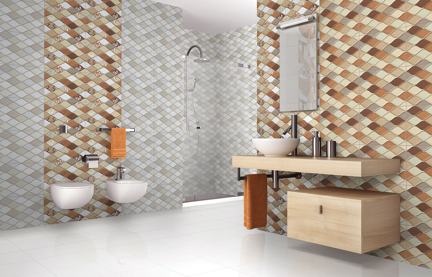 Somany Bathroom Tiles Beautiful Tile Ideas To Add Distinctive Style To Your Bath