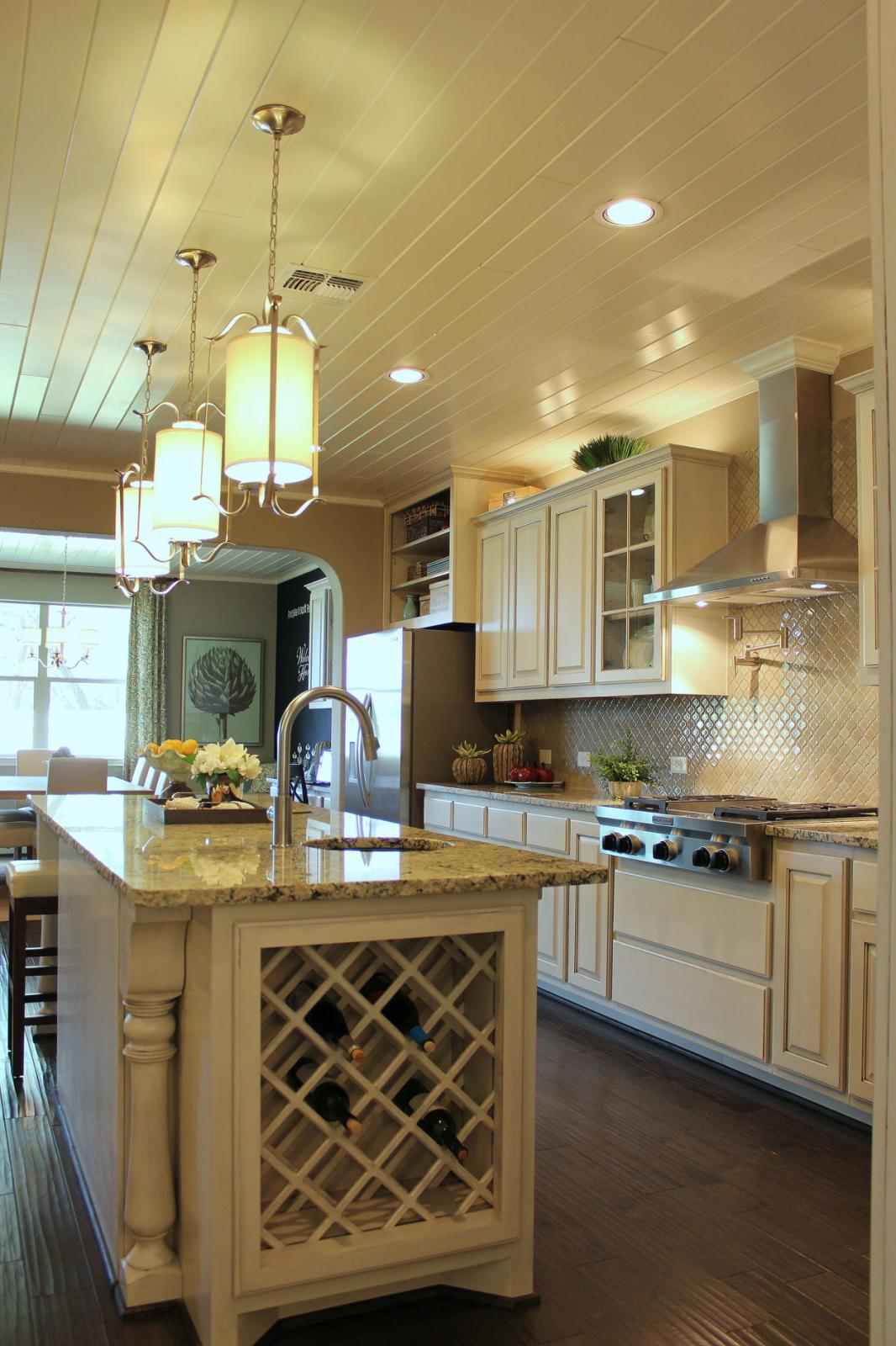 Kitchen Wine Cabinet Designing A Comfortable Kitchen Island For Easy Entertaining