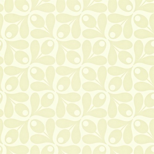 Gamma Inpakpapier Behang Orla Kiely - Small Acorn Cup - Zwart/wit Of Creme