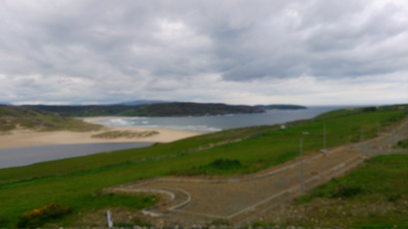 View from our hotel down to the estuary at Bettyhill