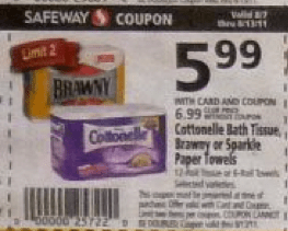 Safeway: Brawny and Sparkle Paper Towels only $3.99!!!