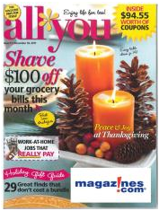 All You Magazine as low as $0.38 per issue!!!! Hurry this deal is for today only!!!