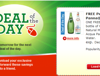 Fred Meyer/QFC Cart Buster Savings Event: Today's coupon is for FREE Perrier or Aqua Panna Water!!!