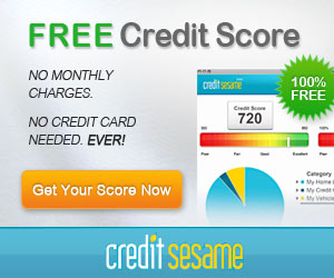 Hurry sign up now with Credit Sesame and be entered to win $300 cash!!! (I  know of a lot of things I could do with that money !)