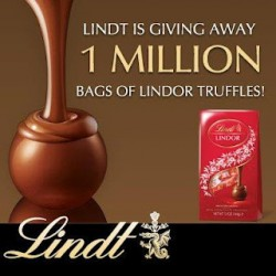 HURRY Grab a coupon for a FREE Bag of Lindor Truffles!!! YUMMY