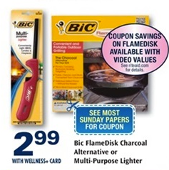 HOT new $2/1 BIC FlameDisk Charcoal Alternative coupon + FREE at Rite Aid!!