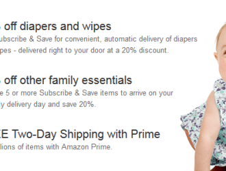 Go fast and score $25 off your first purchase of diapers with Amazon Mom!!!