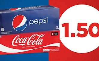 Today Only…Hy-Vee has a HOT printable coupon for 12 pack Pepsi or Cokes for just $1.50 each!