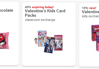 HOT new Valentine's Day Target Cartwheel and several more coupons to stack! TODAY ONLY