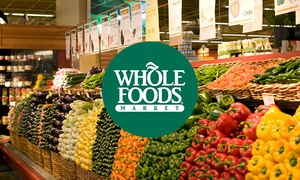 GO FAST!!! *HOT* $10 Whole Foods Gift Card for just $5!!!
