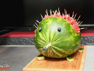 How to make a Watermelon Porcupine