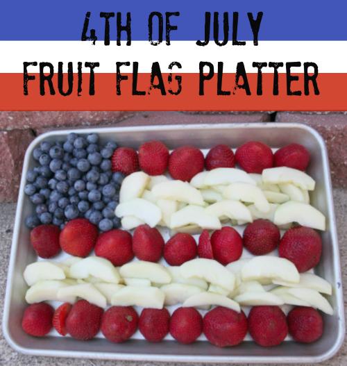 fruit flag platter