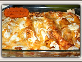 Homemade Cheesy Chicken Enchilada Recipe