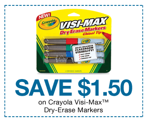 Target Crayola Visi-Max Erase Markers just $0.47 each!