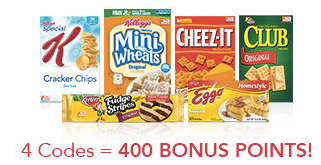 Kellogg's Family Rewards: New 50 point rewards code = FREE stuff, coupons and more!