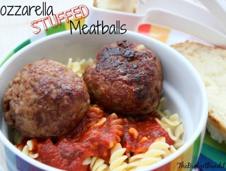 Mozzarella Stuffed Meatballs Recipe (perfect for school lunches)