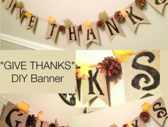 "DIY Fall ""GIVE THANKS"" Banner"