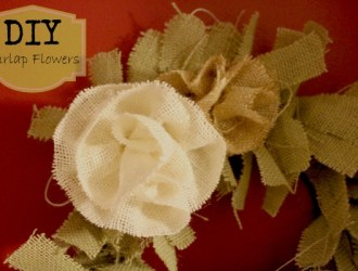 DIY Burlap Wreath and Burlap Flowers