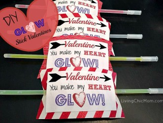 DIY Glow Stick Valentine's Day Cards