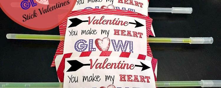 DIY Glow Stick Valentine's Day Cards