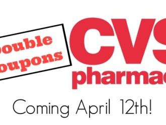 CVS will now DOUBLE coupons! Get Ready!