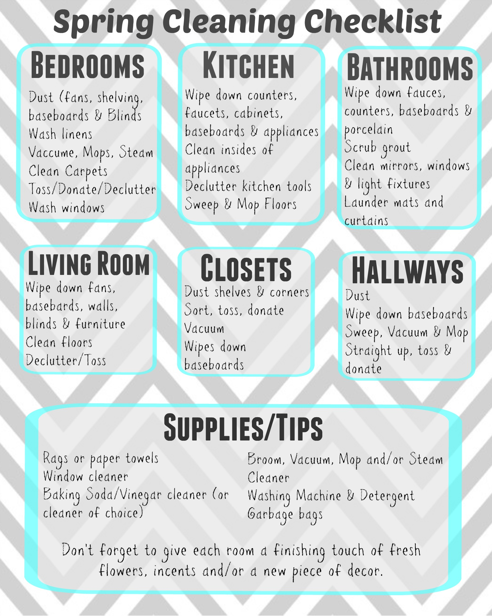 Ultimate Guide To Spring Cleaning Printable Checklist Living Chic Mom
