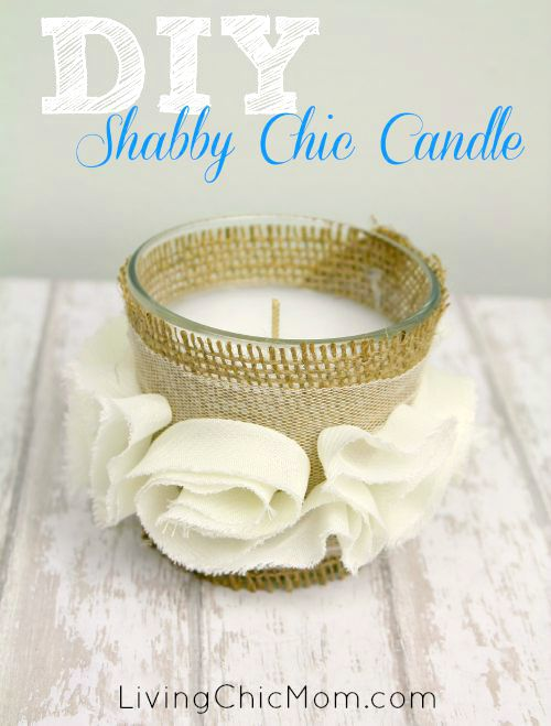 DIY Shabby Chic Candle lcm