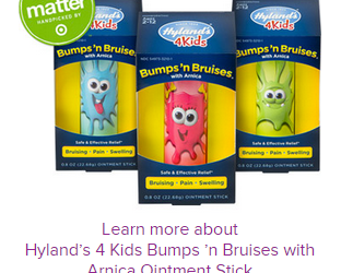 Hyland's 4 Kids Bumps 'n Bruises Available Now + Coupon