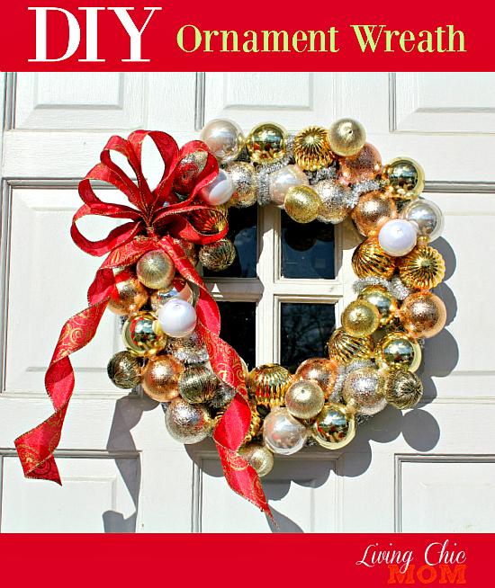 Diy Ornament Wreath Living Chic Mom