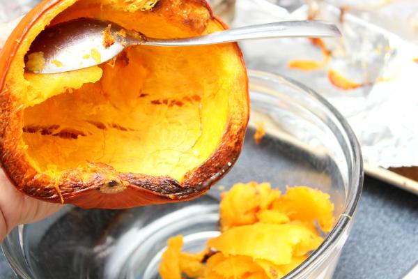 Pumpkin Puree Scooped
