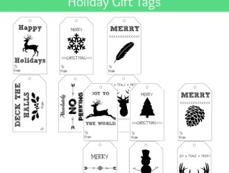 DIY Shabby Chic Holiday Gift Tags (printable)