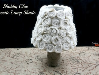Shabby Chic Rosette Lamp Shade