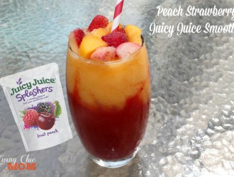 Peach Strawberry Juicy Juice Smoothie