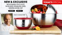 HSN: Wolfgang Puck 8-piece Stainless Steel Mixing Bowl Set ...