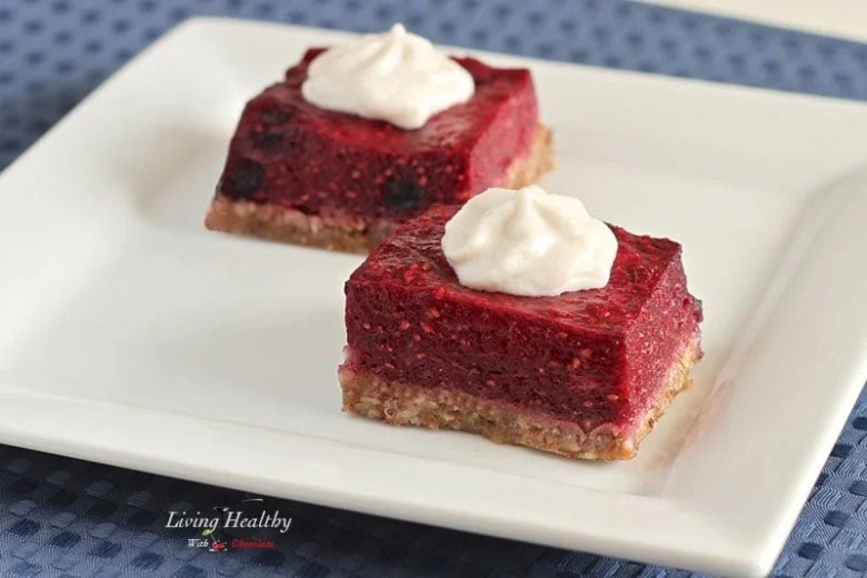 Paleo Raspberry Coconut Layer Bars