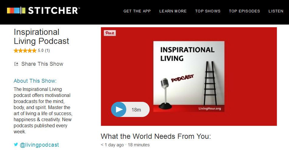Inspirational Podcasts Stitcher