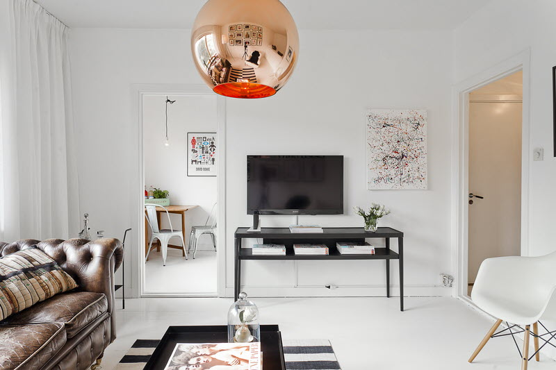 Studio 35m2 377ft2 Scandinavian Studio Apartment In Black And White