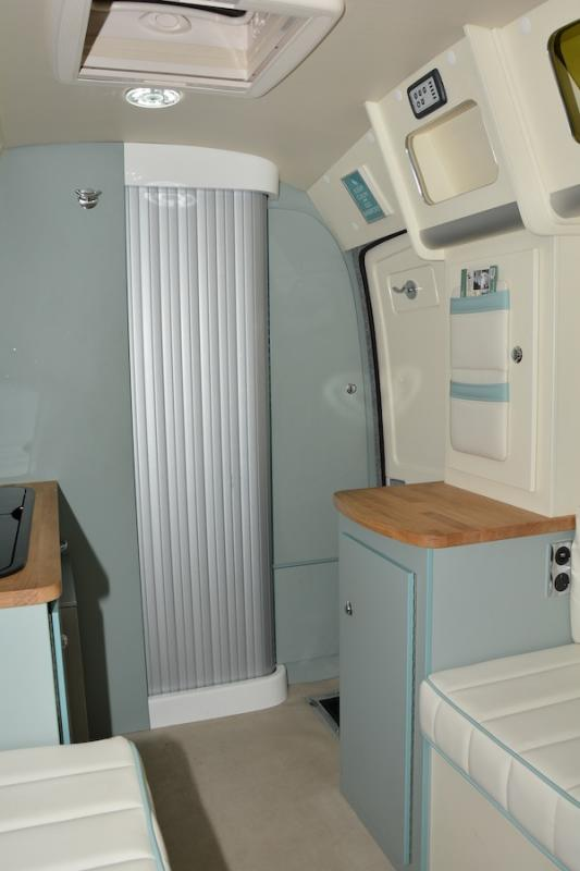 Duck Egg Blue The Barefoot Caravan Is Stylish Luxury In A Neat Little