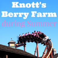 Visiting Knott's Berry Farm during the Summer