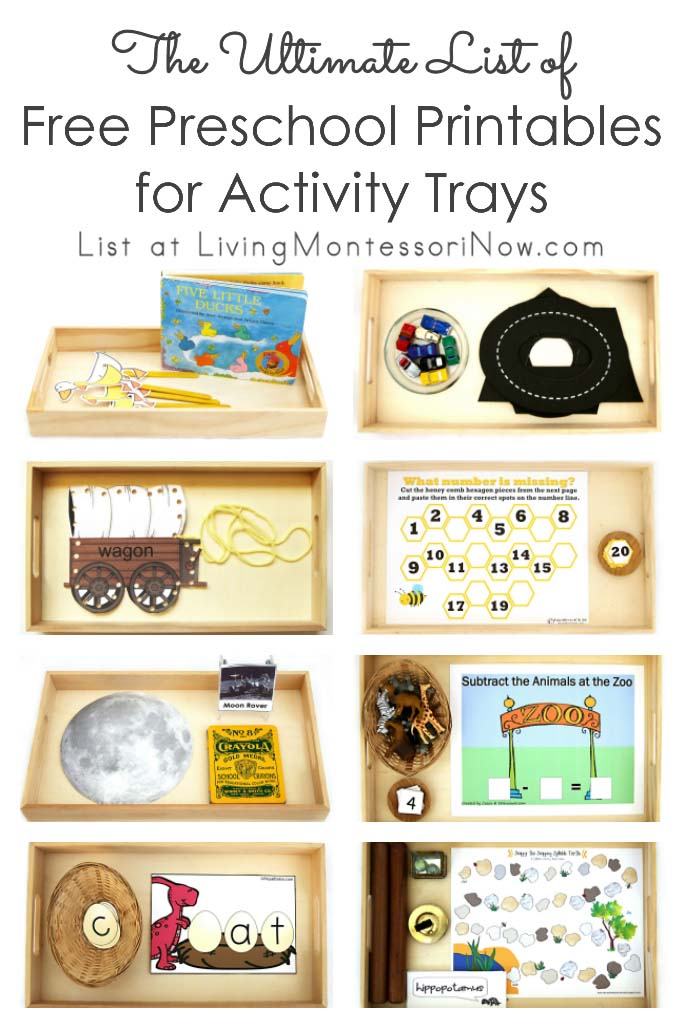 The Ultimate List of Free Preschool Printables for Activity Trays