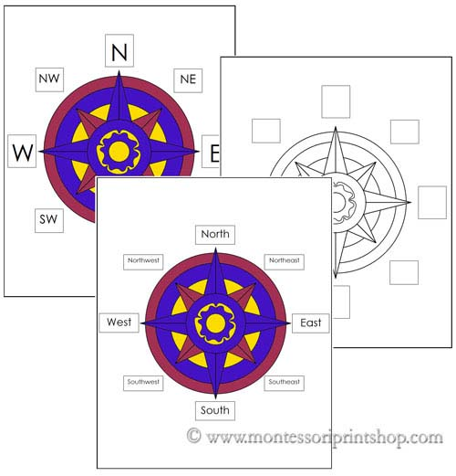 Montessori-Inspired Compass Rose Activities and Outdoor Compass