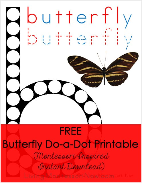 Free Butterfly Do-a-Dot Printable (Montessori-Inspired Instant