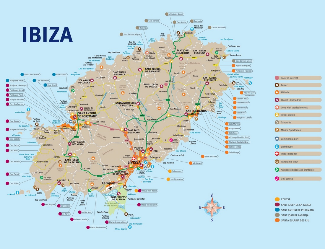 Travel Blog With Map Ibiza Tourist Attractions Map Living Nomads Travel