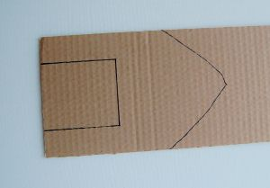 Draw your boat shape on one end and a rectangle on the other