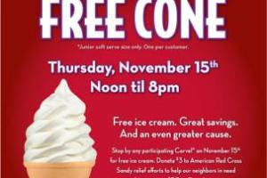 Free Cone Day at Carvel